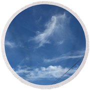 Angel Over Two Notch Road Round Beach Towel