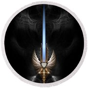 Angel Wing Sword Of Arkledious Dgs Round Beach Towel