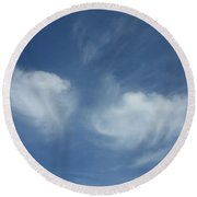 Angel Wings In The Sky Round Beach Towel
