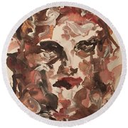 Angela II Round Beach Towel