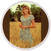 Angela Wheat-0781 Round Beach Towel