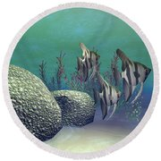 Angelfish Round Beach Towel