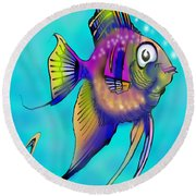 Angelfish Round Beach Towel