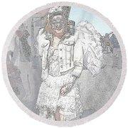 Angelic Goth Round Beach Towel