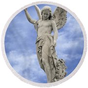 Angelic Peace And Beauty Round Beach Towel