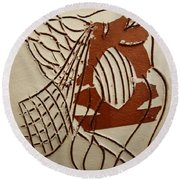 Angelica - Tile Round Beach Towel