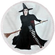 Angelica Houston Bewitched Round Beach Towel