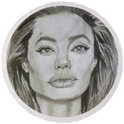Angelina Round Beach Towel