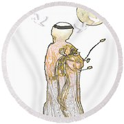 Angelita Blanco Round Beach Towel