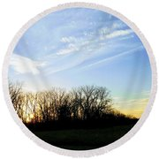 Angels Above Round Beach Towel