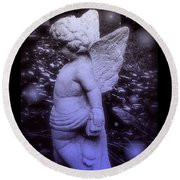 Angels And Fireflies Round Beach Towel