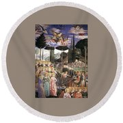Angels Art Round Beach Towel