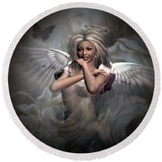 Angels Bliss Round Beach Towel