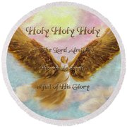 Angels Cry Holy Round Beach Towel