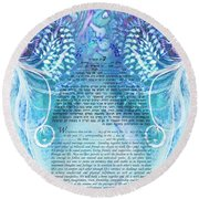 Angels Ketubah-reformed And Interfaith Version Round Beach Towel
