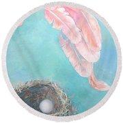 Angel's Nest Round Beach Towel by Ana Maria Edulescu