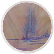 Angels Of Revival 1 Round Beach Towel