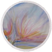 Angels Of Revival Ps 104 4 Round Beach Towel
