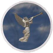 Angels Trumpet Round Beach Towel