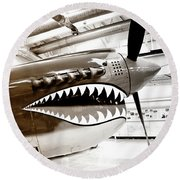 Anger Management Bw Palm Springs Air Museum Round Beach Towel