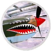 Anger Management Palm Springs Air Museum Round Beach Towel
