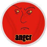 Anger Round Beach Towel