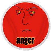 Anger Round Beach Towel