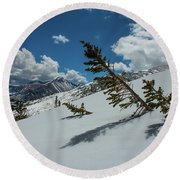 Angles Of The Mountain Round Beach Towel