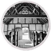 Anglican Church At James Fort Interior Round Beach Towel