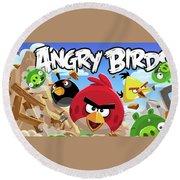 Angry Birds Round Beach Towel