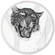 Angry Round Beach Towel