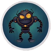 Angry Robot Round Beach Towel