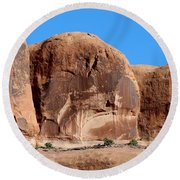 Angry Rock - 3  Round Beach Towel