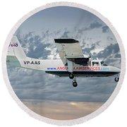 Anguilla Air Services Britten-norman Bn-2a-26 Islander 113 Round Beach Towel