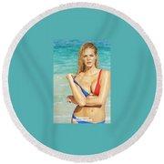 Anibolx Round Beach Towel