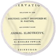 Animal Electricity, Title Page Round Beach Towel