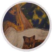 Animals -039 Round Beach Towel