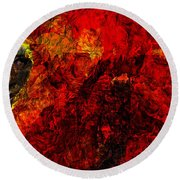 Animus Round Beach Towel