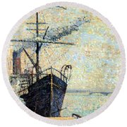 Ankerplaats 1885 Round Beach Towel