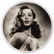 Ann Miller, Vintage Actress Round Beach Towel