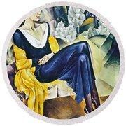Anna Akhmatova (1889-1967) Round Beach Towel