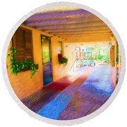 Anna Maria Elementary Office Hallway C130662 Round Beach Towel