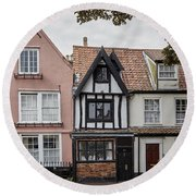 Anna Sewell's House In  Great Yarmouth Round Beach Towel