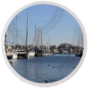 Annapolis - Harbor View Round Beach Towel