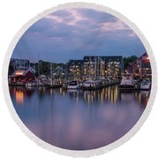 Annapolis Early Morn Round Beach Towel