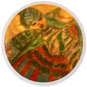 Anne - Tile Round Beach Towel