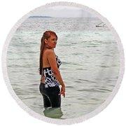 Annie Round Beach Towel