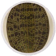 Anoectochilus Lowii  Round Beach Towel