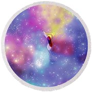 Anomaly In Space Round Beach Towel