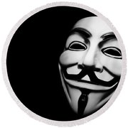 Anonymous V For Vendetta Mask Round Beach Towel